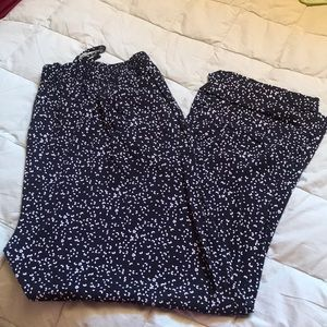 Torrid Black and White Flowy Pants